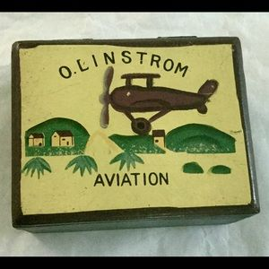 VTG Aviation Bi-Plane Theme Wooden Box
